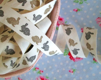 French Style Bunny Ribbon - 3/4 inch - 2 Yards