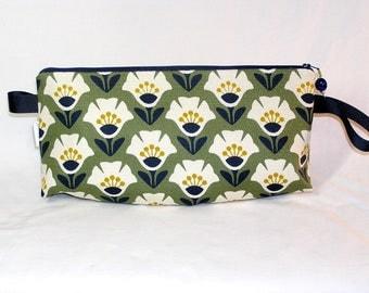 Garden Variety in Olive Anna Clutch - Premium Fabric