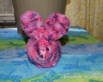 Stuffed Bunny Toy - Pink & Purple - FREE SHIPPING