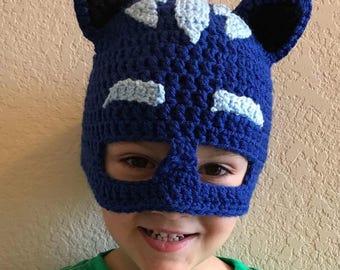 Blue Cat Crochet Mask