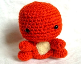 Crochet Charmander Pokemon Amigurumi Charmander Stuffed Toy Cute Pokemon Plushie