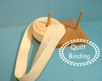 Traditional Quilt Binding - Sunny Yellow and White Stripe