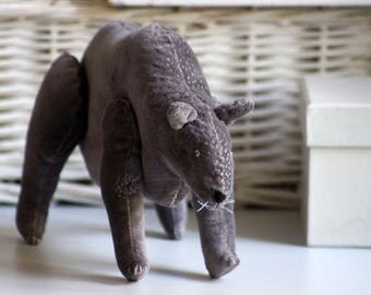 Velvet bear. Soft sculpture. Ready to ship
