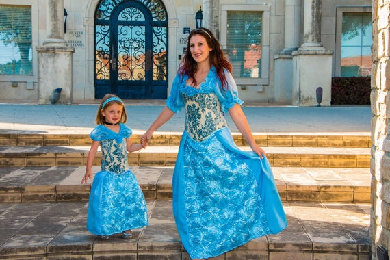 Mommy and Me, Princess Costumes, Blue