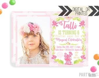 Fairy Invitation | Digital or Printed | Magical Fairy Invitation | Fairy Birthday Invitation | Fairy Invite with Photo | Fairy Printables