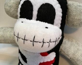 Scully the Skeleton Sock Monkey