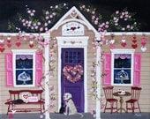 Cupid's Cupcakes ORIGINAL Folk Art Painting FREE Shipping