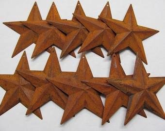 """1.5"""" Rusty Metal 3D Star, Package of 20,Craft Supply"""