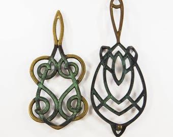 Vintage Brass Trivets, Made in Israel