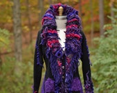 Custom OOAK sweater COAT for Amanda. Refashioned unique Fantasy boho clothing