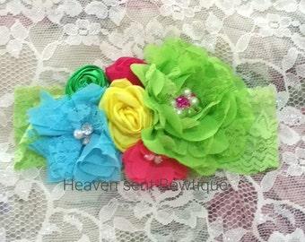 Headband/girls flower headband/flower girl headband/headband/flower girl headpiece/Hair Accessories/girls headbands