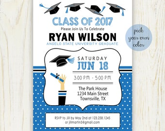 Graduation Party Invitation - Digital File - Choose your color (current year) no. 420G