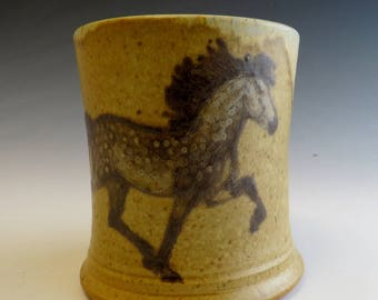 Icelandic Horse Mug Tolting Dark Dapple Grey