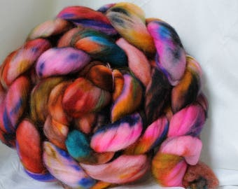 Hand painted Super wash merino Nylon 4.3 oz/123 grams