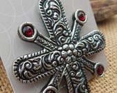 RESERVED for Jackie  ~  Antiqued Silver Finish Cross Jewelry Component  ~  Antiqued Silver Finish Cross Pendant  ~  Cross Jewelry Supply