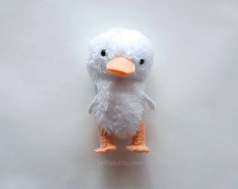 Duckling stuffed animal pattern * Make a Plush Duckling Doll * PDF Duck Pattern Mini Pocket Plushie