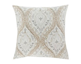 NEUTRAL Brown Grey Pillow Cover.Decorator Pillow Cover.Home Decor.Large Print. ARIANA LINEN. Cushions. Cushion.Pillow. Premier Prints