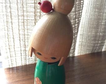 Vintage Kokeshi Shirokiya Japanese Wood doll