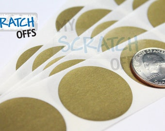 """Gold 1.25"""" Round Scratch Off Labels"""