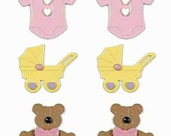 Just Reduced! Brad Buddies- Baby Girl - Cards - Tags - Gifts -Scrapbooks - FREE Shipping