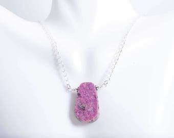 Cobalto Calcite Necklace - Cobalto Calcite Necklace - Pink Druzy Necklace - Cobalto Calcita - Druzy Pendant - Druzy Necklace