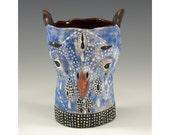 Hooter - Two Faced Owl Ceramic Tumbler by Jenny Mendes