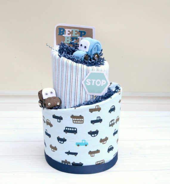 Race Car Baby Shower, Car Baby Gift, Beep Beep Baby Shower, Blue Baby Shower, Diaper Cake for Baby Boy, Car Diaper Cake, Car Shower Decor