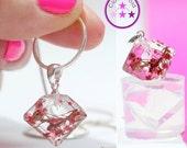 SALE 15% Flat Diamond Shaped Crystal Pendulum Silicone Pendant Mold