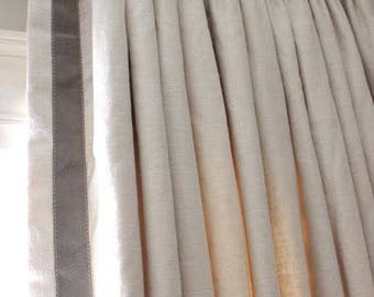 parisian pleated drapes pinch pleats solid color linen sold per panel