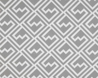 "Fabric shower curtain,Shakes geometric Ash Slub cotton print, 72"", 84"", 90"", 96"", 108"" custom sizes available"