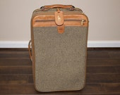 Vintage Hartmann Pullman Tweed Rolling Luggage 22 inch suitcase with lock and keys