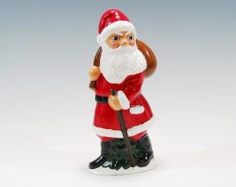 Traditional Hand Painted Chalkware Santa with a Sack of Toys Traditional Old World Santa Chalkware Santa