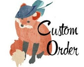 Custom Order Pink Rose Whimsy