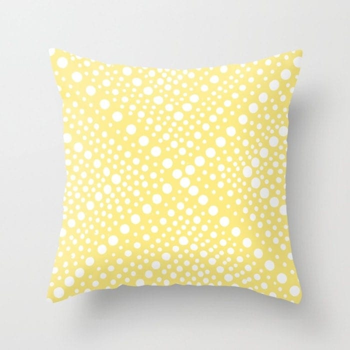 Outdoor Throw Pillow Buttercup Yellow Patio Cushion