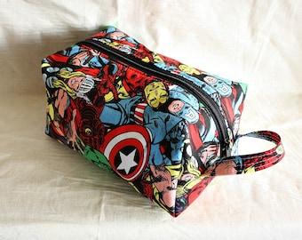 Avengers dopp kit/ medium toiletry bag/  pouch/ travel kit/ - ready
