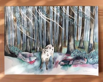Original Watercolour Painting 11x15 'Letzte'