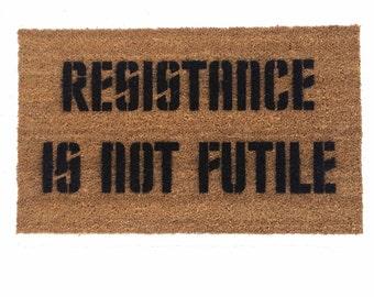 Resistance is NOT futile Borg doormat - nerd geek trek