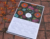 Floral Wall Calendar / Small Poster Calendar / Illustrated Calendar