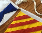 Custom International Maritime Code Flag Nautical Name Banner Felt Decor Party 8x8 Signal Garland and Rope