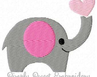 Elephant Heart Machine Embroidery Mini Design