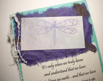 EACH PRECIOUS MOMENT ~ Mixed Media Greeting Card with quote by Elisabeth Kubler-Ross