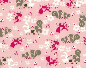 Little Friends 1835-001 Cotton Fabric by Yuko Hasegawa for RJR Fabrics