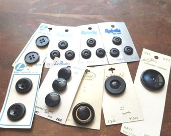SALE Vintage Lot of Navy Blue Buttons