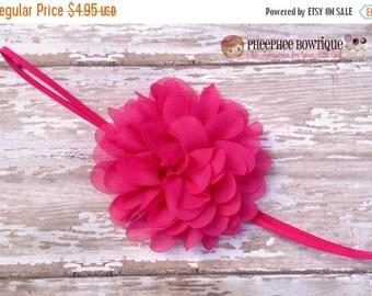30% OFF SPRING SALE Shocking Pink Flower Headband, Emma Petal, Newborn Headband, Baby Headband, Infant Headband, Photo Prop, Flower Girls, W