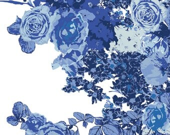 SALE - Art Gallery - In Blue Collection - Bloesem in Royal