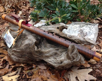 Native American Style Flute, Curly Walnut & Tamarind Key of G from Tree of Life Designs
