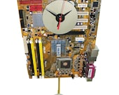 Motherboard Pendulum Wall Clock has Gold/Tan Base Color. Awesome Holiday Gift. FREE SHIPPING USA!