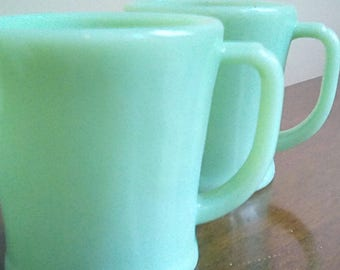 Jadeite Cups Mugs Fire King