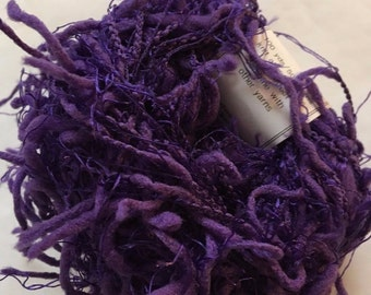 Sale - Crystal Palace Yarns Squiggle #2264 Royal Purple - Great CarryAlong! - PigTail Eyelash