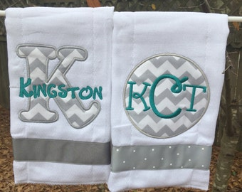 Monogram set of 2 burocloths